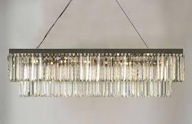 retro odeon glass fringe rectangular chandelier chandeliers