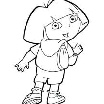 Small Picture Dora Backpack Coloring Page Clipart Panda Free Clipart Images