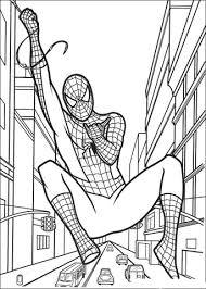 Disegno Di Spider Man Appeso Alla Ragnatela Da Colorare Disegni Da