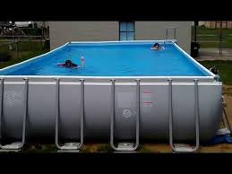 Pool Intex Ultra Frame 32x16 52 deep YouTube