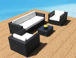 patio couch set outdoor patio furniture sofa all weather wicker sectional pc resin couch set