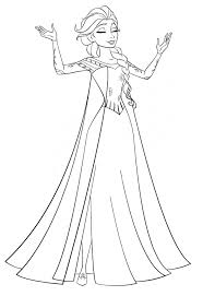 Small Picture Elsa doing magic Free Coloring Page Disney Frozen Kids