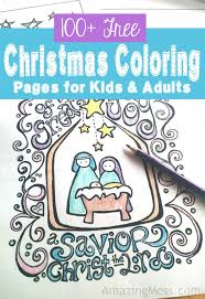 These christmas coloring pages are dedicated to adults. 100 Free Christmas Coloring Pages For Kids And Adults Amazing Mess