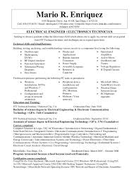 Rf Systems Engineer Sample Resume Inspiration Electrical Engineer Electronics Technician Resume