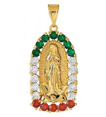18k gold pendant necklace gift for women virgin mary necklace medal with varies zirconia design by
