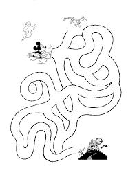 Labirinto Da Stampare Per Bambino Con Topolino Halloween Disegni