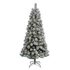 St. Nicholas Square 7-ft. Pre-Lit Flocked Artificial Christmas Tree