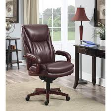 home depot office furniture. edmonton coffee brown bonded leather executive office chair home depot furniture 1