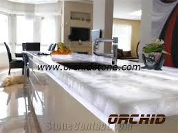 crystal quartz semi precious stone translucent kitchen tops countertops white quartz gemstone backlit table tops island tops bar tops