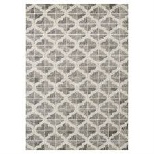 novelle home juneau grey white textured ogee pattern area rug lowe s canada