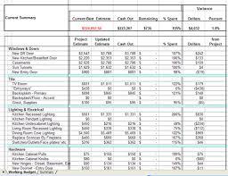 Renovation Budget Template Excel bathroom remodel budget ...