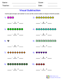 Subtraction Worksheets | Dynamically Created Subtraction Worksheets
