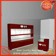 modern wooden portable jewelry display whole set for s