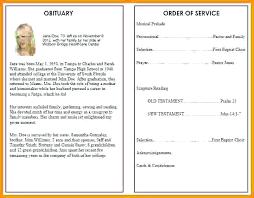 Free Download Funeral Program Template Delectable Free Obituary Program Template Gallery Funeral Service Samples