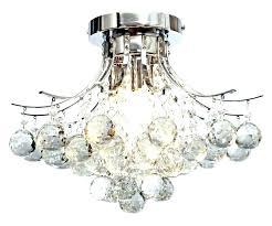 flush mount ceiling fan with crystal light kit fans crystals elegant chandelier