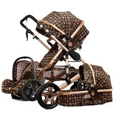 Luxury baby <b>stroller</b> 3 in 1 <b>High landscape stroller</b> can sit reclining ...