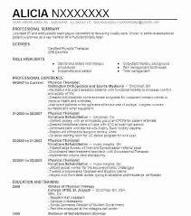 Massage Therapist Resume Classy Physical Therapy Resume Template Massage Therapist Resume Example