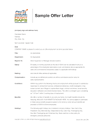 Simple Company Offer Letter Format Templates At
