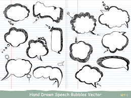Photoshop Speech Bubble Hand Drawn Speech Bubbles Vector And Photoshop Brush Pack 01