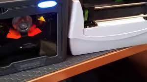 PS4200 Barkod okuyucu ile Barkod printerdan barkod basılması - YouTube