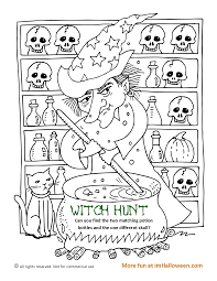 Witch Hunt Matching Game Can You