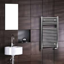Hot water towel radiator / electric / steel / chrome - SCALA