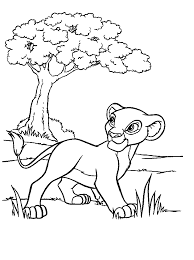 Small Picture Coloring Page Lion King Pages Simba Printable To Print Free Online