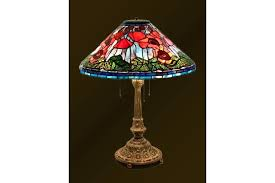 stained glass lighting poppy table lamp bedside desk stand outdoor wall stained glass lighting