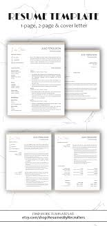 Creative Resume Template Word Instant Download Social Media Cv