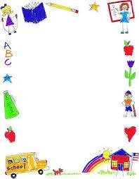 Preschool Page Borders Borders Frames Marco School Border Border Clipart Page Border