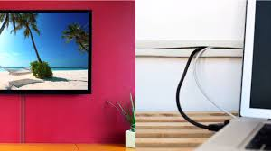 Hide Tv In Wall Cord Channel To Conceal Wall Mount Tv Cables On The Wall By Ut
