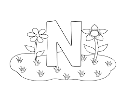 free printable letter n coloring pages
