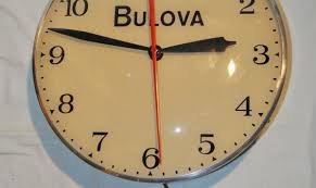 vintage wood wall clock bulova electric wooden thing