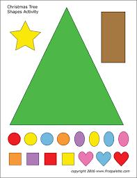 Printable Christmas Tree Christmas Tree Shapes Activity Template Free Printable