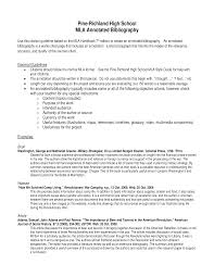 High School Mla Annotated Bibliography Templates At