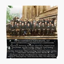 1927 Solvay Conference (deep space NGC3660 bg), posters, prints