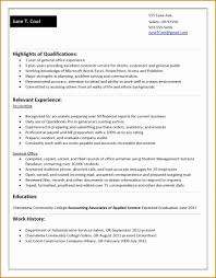 Sample Resumes For College Students With No Work Experience Resume