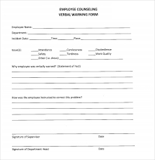 Referral Forms Templates Verbal Warning Form Template