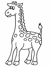 Animal Coloring Giraffe 2 Animals Coloring Pages Coloring Page Book For Kids