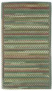 bear creek cs rectangle 980 275 hunter green braided area rug