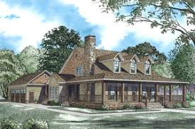 Wrap Around Porches   Houseplans comCountry style home  elevation