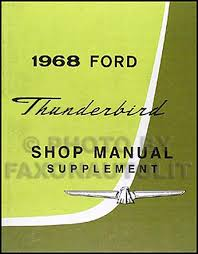 1968 ford thunderbird vacuum schematic manual reprint related items