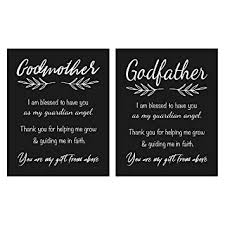 Amazon Godmother And Godfather Gift Quote Chalkboard Inspired Fascinating Godparents Love Quote In English