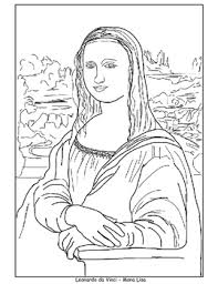 Coloring Pages Mona Lisa Japanese Bridge Sleeping Gypsy And