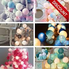 christmas tree lights 20 <b>LED</b> Globe Garland <b>Cotton Ball String</b> Fairy ...