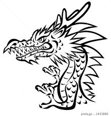 ドラゴン 竜 龍 版画のイラスト素材 Pixta