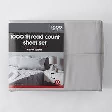 1000 thread count cotton sateen sheet set grey