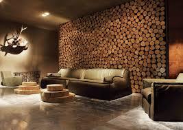 Rustikale Holzwaende Wohnzimmer Gestalten