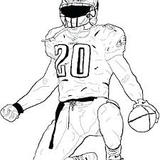 Nfl Football Player Coloring Pages Coloring Page 2018 Busters