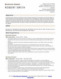 Professional Business Resume Examples Business Owner Resume Samples Qwikresume